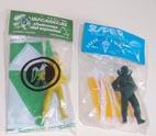 Paracaidistas de los puestos de pipas