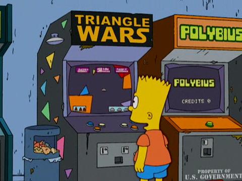Polybius en los Simpsons (temporada 18ª, episodio 3º)
